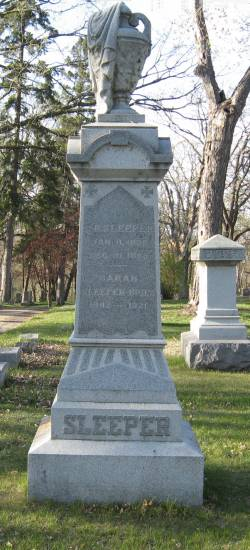 Evergreen Cemetery Tall Monument