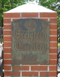 Evergreen Cemetery 1st Avenue Entrance Gate Plaque